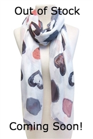 wholesale summer scarf hearts dots