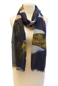 wholesale summer scarf - earthy print