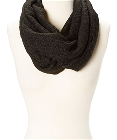 wholesale ladies infinity scarves lacy knit
