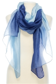 1051 Pure Silk Dip-Dyed Scarf