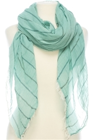 1053 Multicolor Stitch Striped Scarf