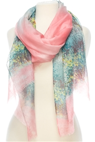 1054 Orchard in Bloom Print Scarf