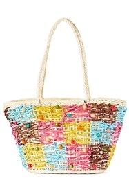 wholesale colorful straw handbags