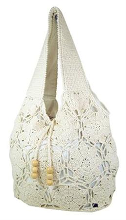 Crochet Cotton Bag : wholesale cotton crochet sling bag