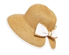 wholesale sun hats - butterfly split straw hat with bow
