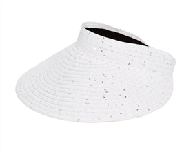 Sun Visor Hats Wholesale - Roll-Up Sequins Visor