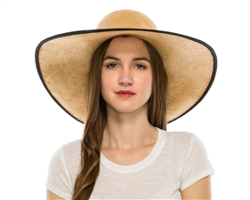 wholesale beach hats - wide brim floppy straw sun hat