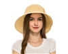 wholesale facesaver hat - lampshade sun hat w slanted bow ribbon hat
