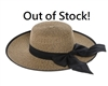 Wholesale Womens Straw Sun Hats Bow - Heathered