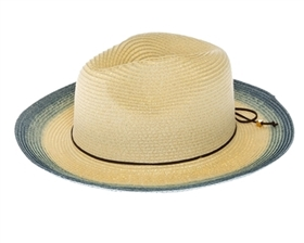 Wholesale Straw Summer Panama Hats - Bright Colors Dip Dyed