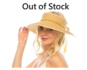 wholesale beach hats - Wraparound Visor w/ Fringe Band