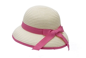 wholesale kids hats - girls summer cloche hat with bow