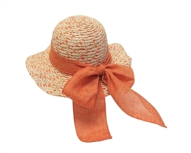 wholesale girl's raffia straw sun hat
