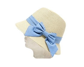 wholesale girl's straw bucket hat  bow