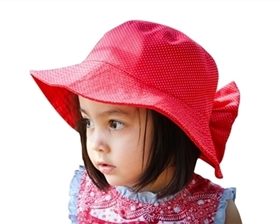 wholesale girls fabric sun hat removable bow