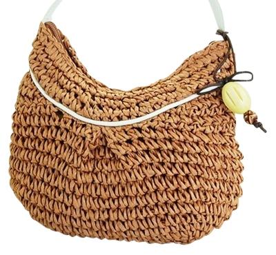 wholesale crochet straw mini purse