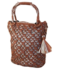 wholesale crochet straw handbag