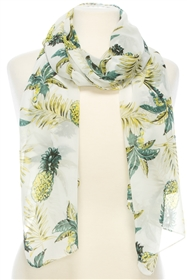 22542 Pineapple and Palm Leaf Scarf