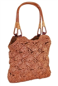 wholesale sunburst crochet straw handbag