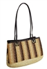 wholesale striped straw purse