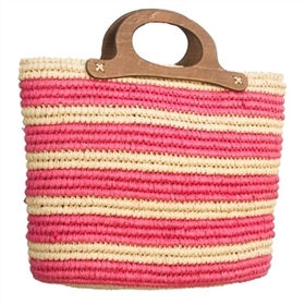 wholesale striped crochet straw handbag