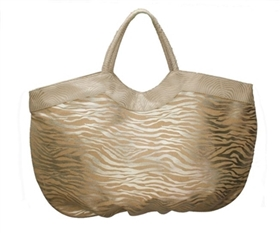 wholesale big metallic zebra print tote