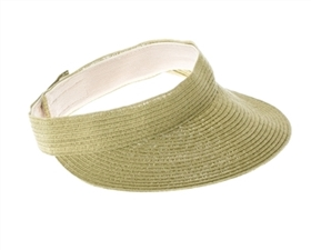 wholesale straw sun visor sewn braid