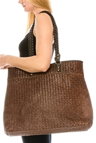 wholesale large seagrass straw bags shoulder strap