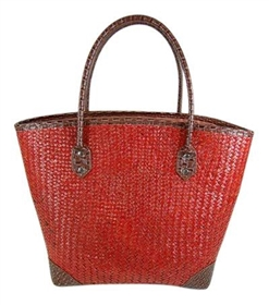 wholesale straw tote bags - medium straw resort handbag