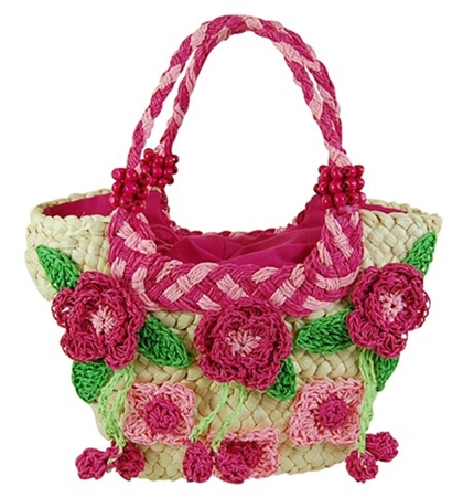 Mini Crochet Bag : wholesale straw mini bag crochet flowers