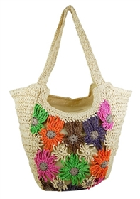 wholesale multicolor flower crochet bag
