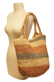 Wholesale Hand Crocheted Raffia Straw Hobo Bag