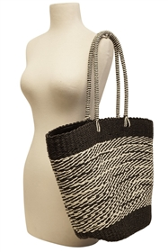 Wholesale Beach Tote Bags - Mixed Straw
