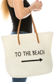 Wholesale To the Beach Embroidery Tote