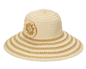 wholesale ladies hats ribbon and straw flower lampshade hat