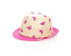 wholesale kids fedora hats straw summer childs hat