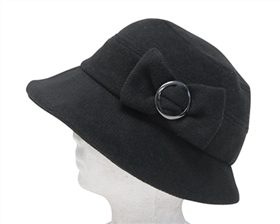 wholesale wool bucket hat  buckled bow