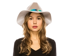 wholesale wool felt panama hat  tribal band