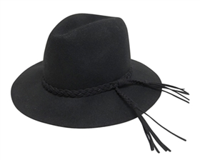 Wholesale Black Hats - Boho Panama Hat with Tassels