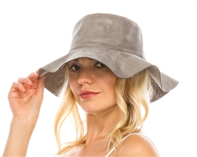 wholesale floppy hats panamas faux suede women's hat