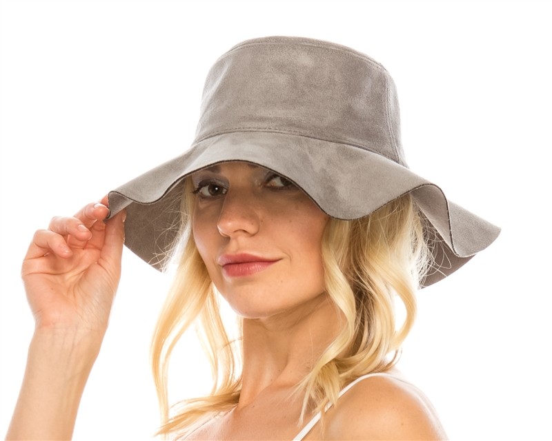 Suede Leather Floppy Pioneer Hat 103