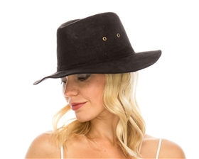 wholesale safari hats faux suede wide brim fedora