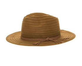 wholesale floppy hat - vegan leather panama hats