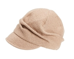 wholesale newsboy cabbie caps pleated wool blend cap