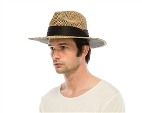 wholesale mens seagrass straw fedora panama hats