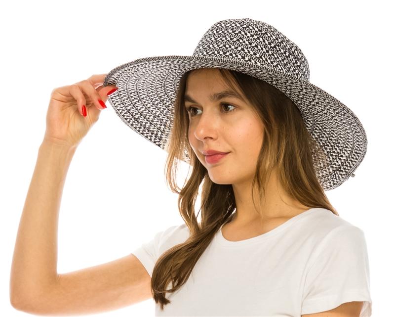 394 Mixed Braid Sun Hat