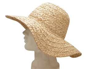 wholesale organic raffia straw sun hats
