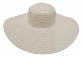 wholesale floppy 6 inch brim sun hats sequins