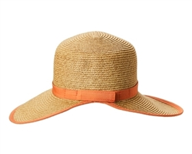 wholesale straw facesavers visor hats with contrast trim