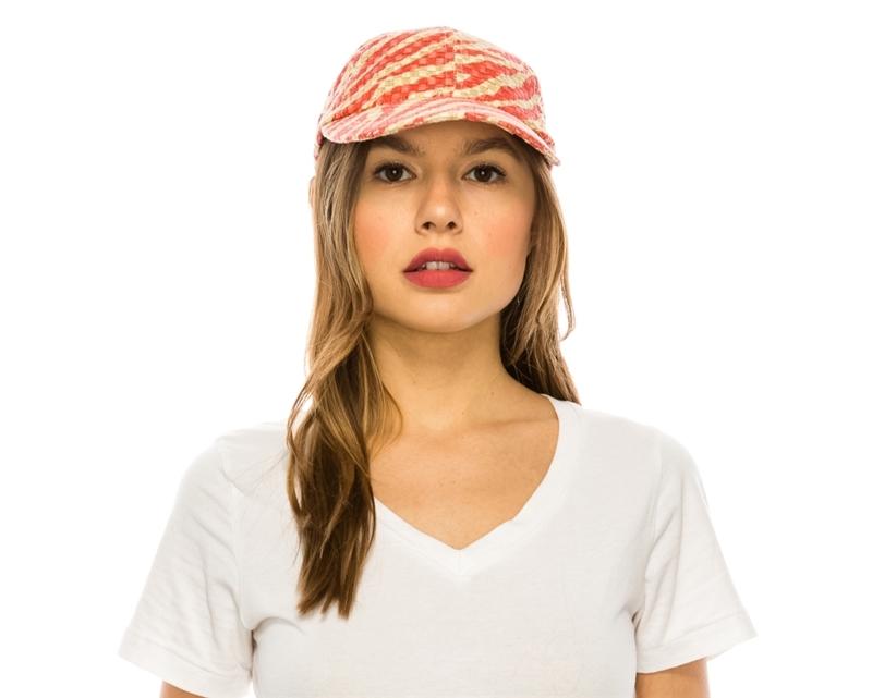 478 Tiger Stripe Straw Baseball Cap